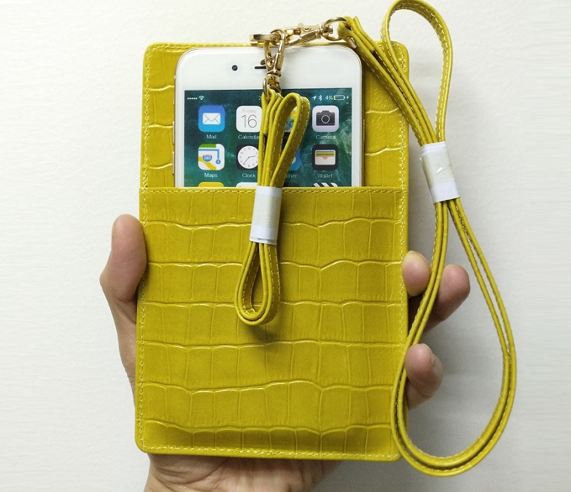 yellow card holder phone iPhone case