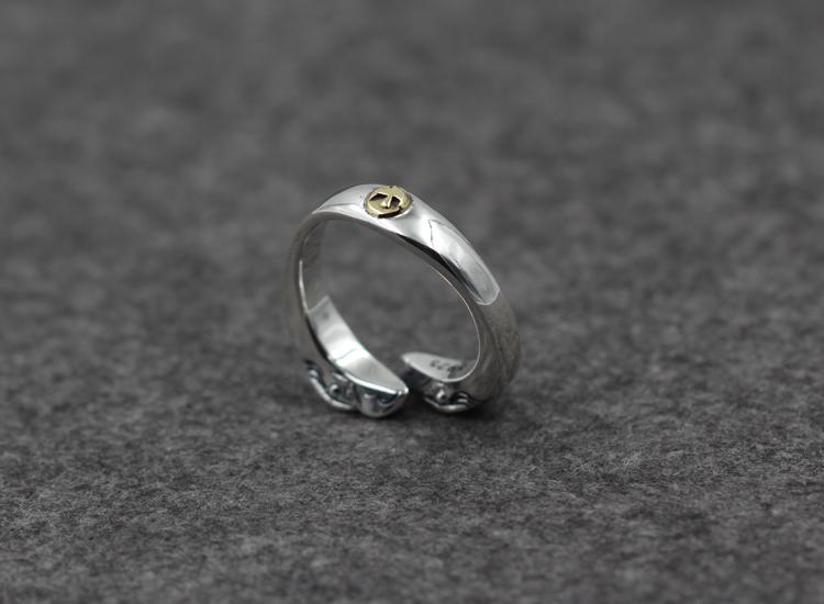 S925 argento sterling coppia anello aperto personalità classica moda uccelli in ottone stile retrò indiano inviare regalo gioielli amante