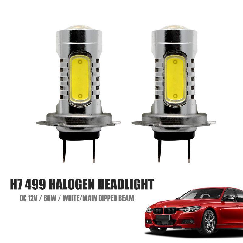 H7 LED Headlight Fog Bulbs Conversion Kit High Low Beam 70W 8000LM 3000K Yellow