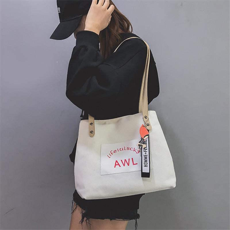 Women Canvas Handbag Fashion Designer Ladies Letter Crossbody Messenger Shoulder Bag Female Fashion Purse Sac A Main SS7382 (1)