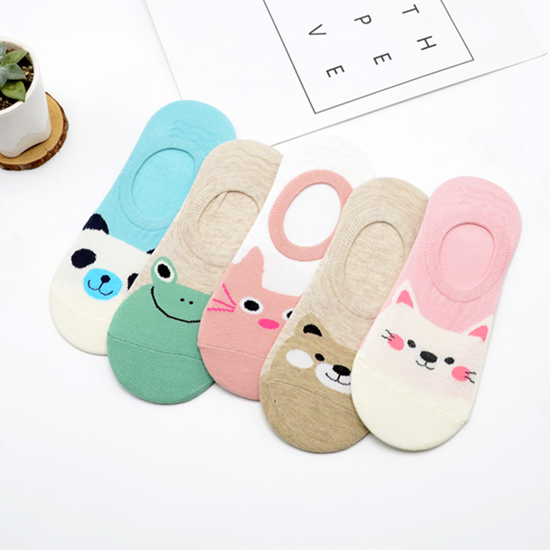 Boys Girls Casual Lace-up Sneakers Running Shoes Cat Panda Bear Animals Happy Smile