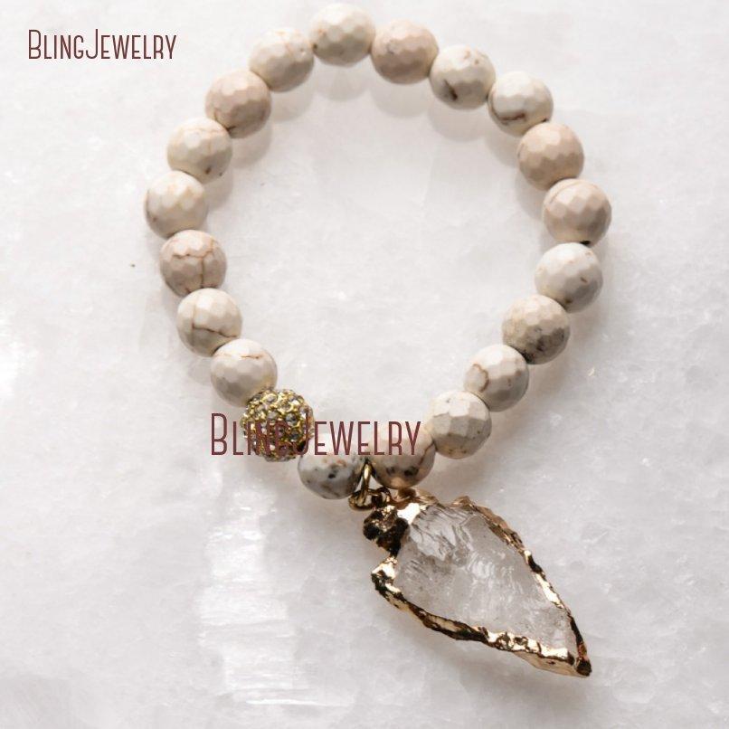 20181201-BM17426-Latest Arrowhead Clear Crystal Bracelet On Sale_25
