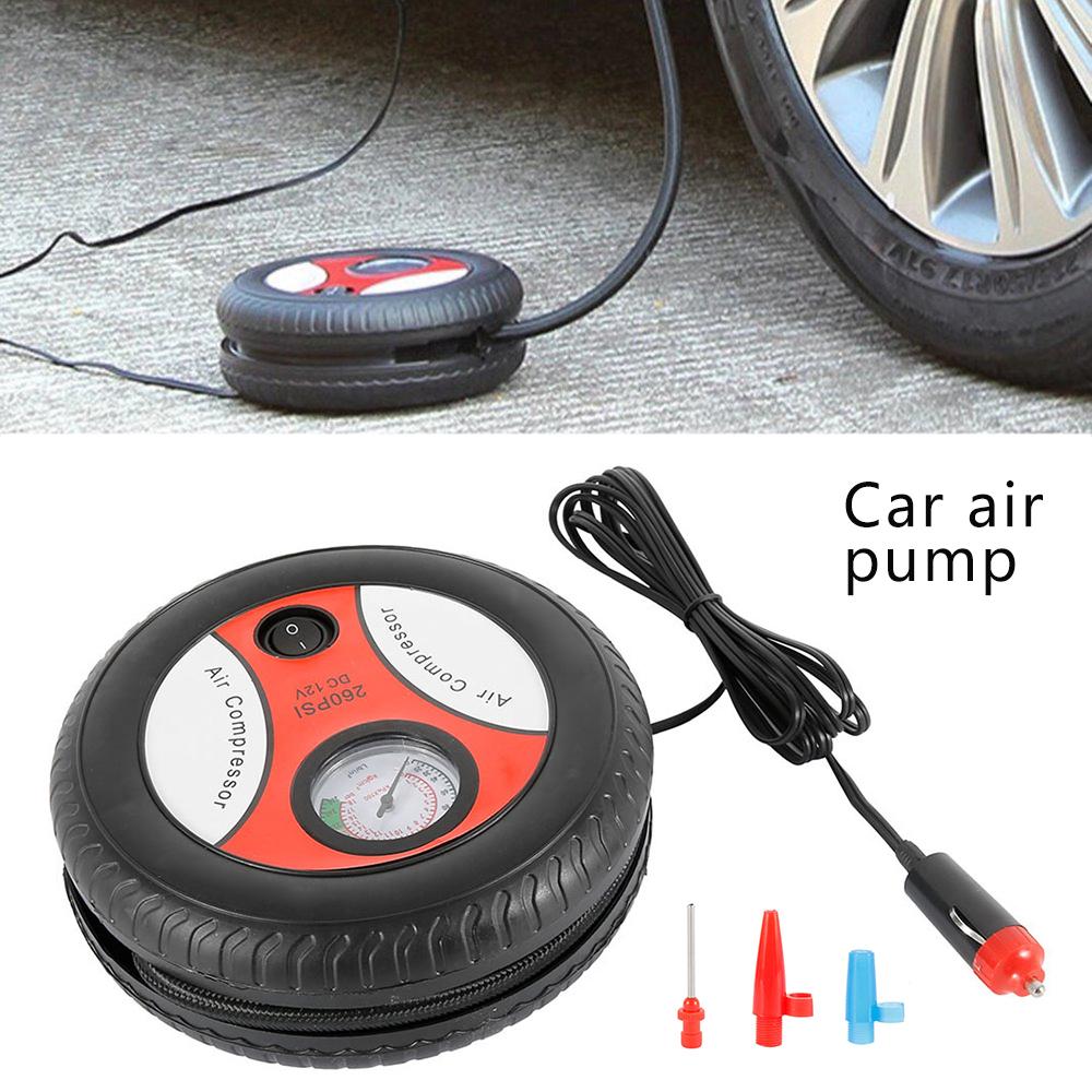 12V 300PSI Auto Auto Mini Kit De Compresor De Aire El/éctrico Port/átil Para Bola Bicicleta Minicar Neum/ático Inflador Bomba De Acceso Para Autom/óvil