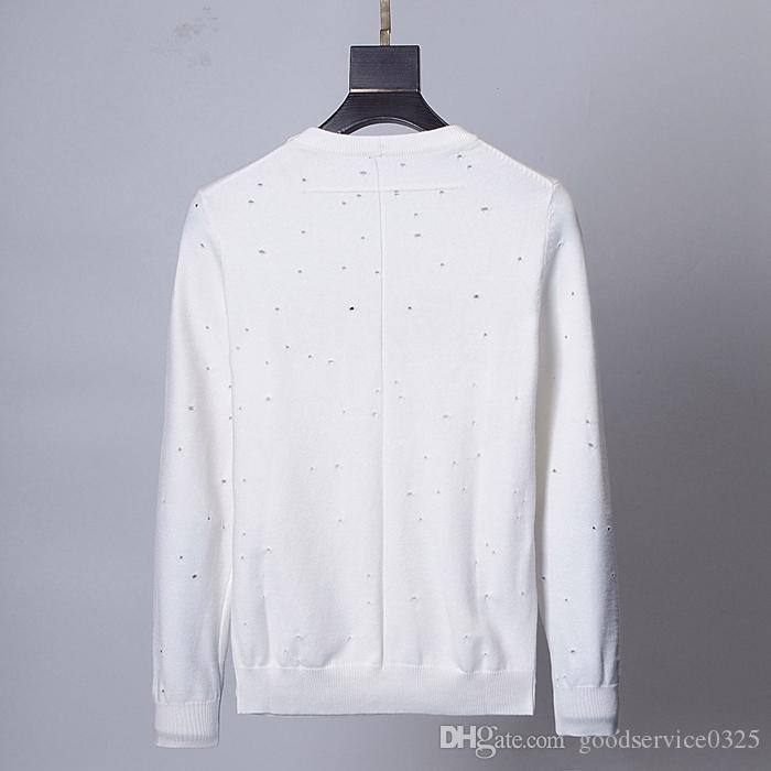 Men's Black Striped Knit Wool Tiger Embroidered Sweatshirt Man Brand Women Sports Sweater Coat Jacket High quality fashion casual sweat