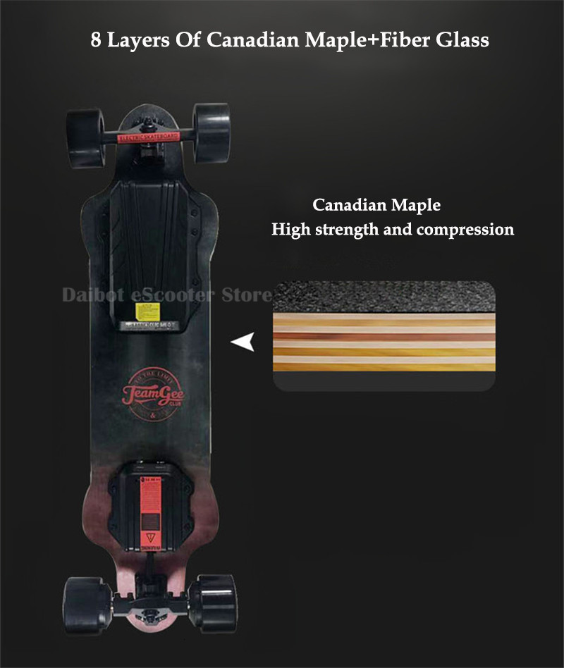 Electric Skateboard For Adult 4 Wheels Electric Scooters Double Drive 600W 36V 40KMH Longboard Electric Skateboard (12)