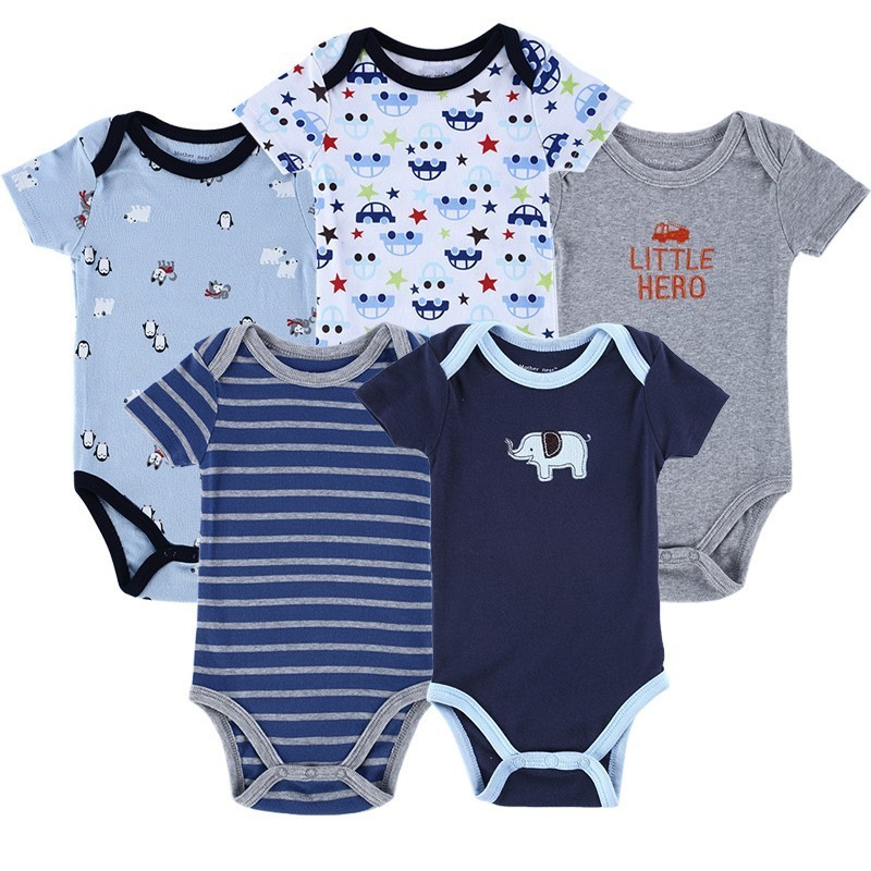 Luvable Friends 5 Pieceslot Baby Body Roupa Infantil Infant Clothing Lovely Bird Bodysuit Pattern New Born Baby Clothing (5)