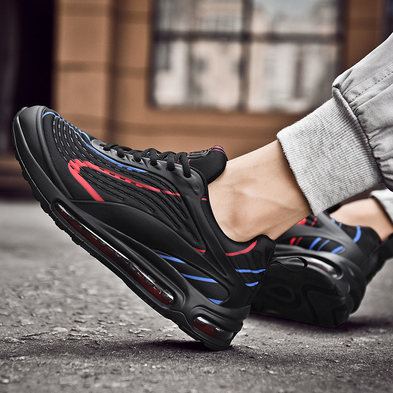 2020 Hot Selling Mens Kissen Laufen Jogging-Schuhe Triple Black Red Navy Blau Rot Tennis Schuhe Herren Sneaker Sportschuhe Größe 40-47