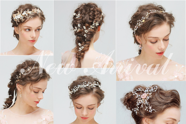 2 Hours Replied Wedding Accessories Bridal Hair Clip Alloy Flowers And Leaves With Rhinestone Headpieces Hair Jewelry