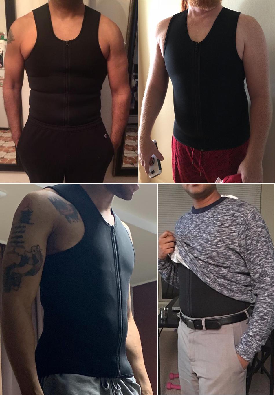 CXZD 2019 Men Waist Trainer Vest for Weightloss Hot Neoprene Corset Body Shaper Zipper Shapewear Slimming Belt Belly Men (9)