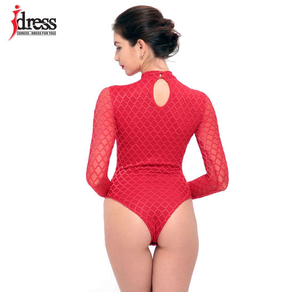 IDress 2017 New Summer Women Black Bodycon Jumpsuit Halter Sheer Mesh Bandage Bodysuit Sexy Club Jumpsuits and Rompers Sexy Body (6)