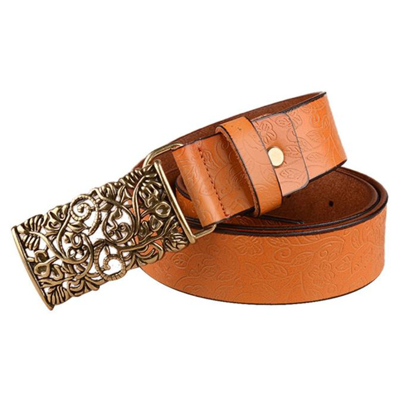 Leather Wide Belts For Women Belts Men Leather Automatic Buckle Ms Fashion Palace Retro Belt Real Leather Belt 40AG304