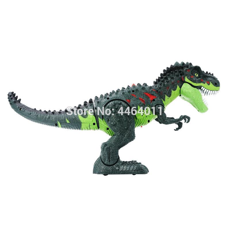 Electric Mechanical Walking Dinosaur Simulation Spray Light Sound Kids Toy UK