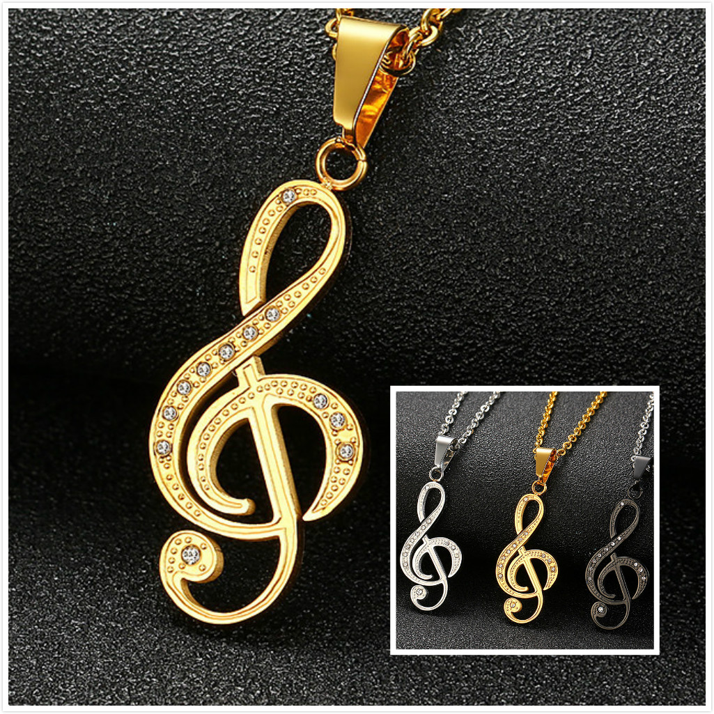 Parties Headphones Earphone Microphone Pendant Hip Hop Fashion Music Necklace Vintage DJ Charms Choker Chain as Gift for Women Birthdays Gold Daughter Festivals Lover