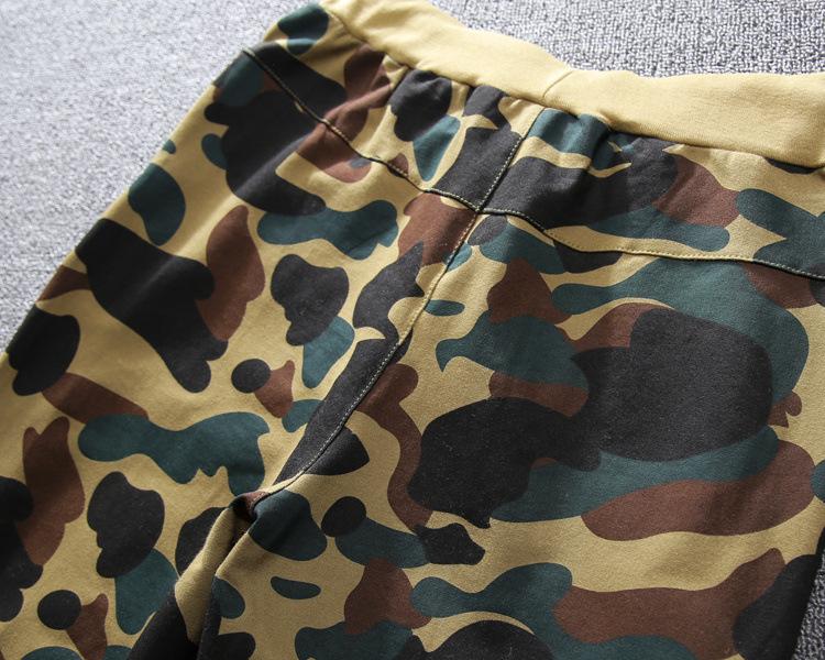 Moda Erkekler Pantolon Markalı Gelgit Streetwear Desinger Pantolon Rahat Sweatpants Uzun Spor Kamuflaj Kalem Pantolon Cep Tam Boy