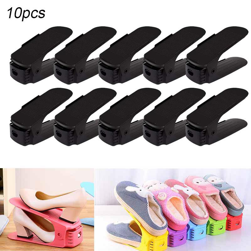 Mixed Color organizador zapatos Soporte de calzado organizador de calzado con ranura 8PCS Ahorro de espacio de Almacenamiento de Zapatos duradera