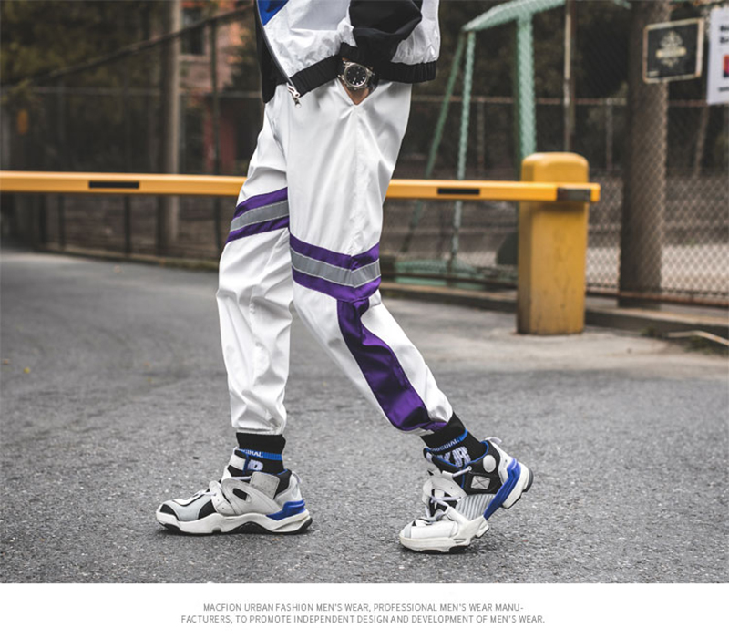 Loose Hip Hop Cargo Pants Men Camouflage Patchwork Harem Mens Trousers Streetwear (56)