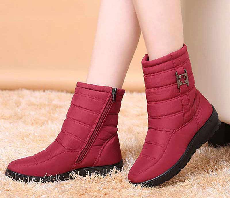 Compre 2019 Zapatos De Mujer 2018 Botas De Invierno Para Mujer Calzado Para Dama Tallas Grandes Botas De Nieve Fenty Beauty Botines Con Cremallera
