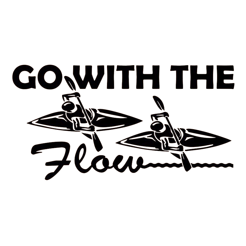 Car Truck Auto Laptop Window Stickers Go With The Flow Sticker Vinyl Decal