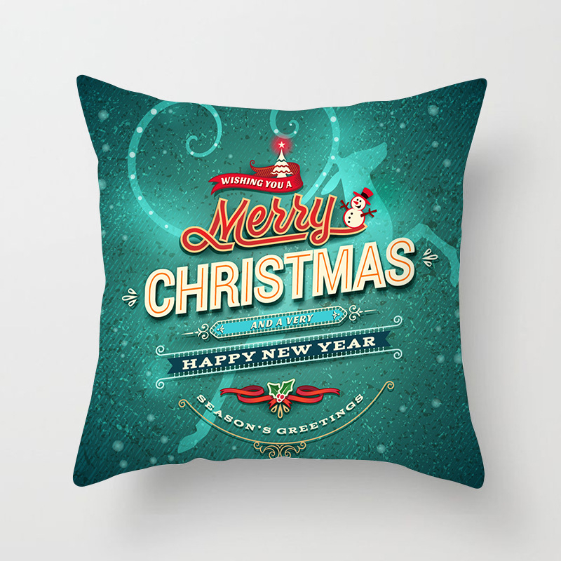 1Pcs 4545 Cm Happy New Year Christmas Decorations for Home Cartoon Santa Claus Xmas Decorative Pillows Cover adornos navidad (15)