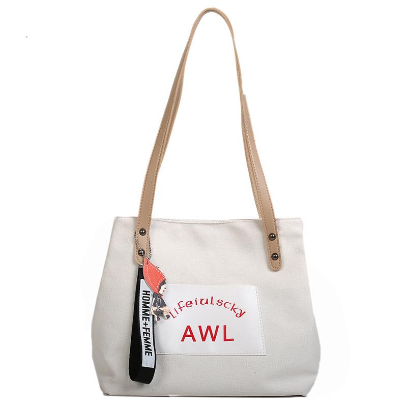 Women Canvas Handbag Fashion Designer Ladies Letter Crossbody Messenger Shoulder Bag Female Fashion Purse Sac A Main SS7382 (2)