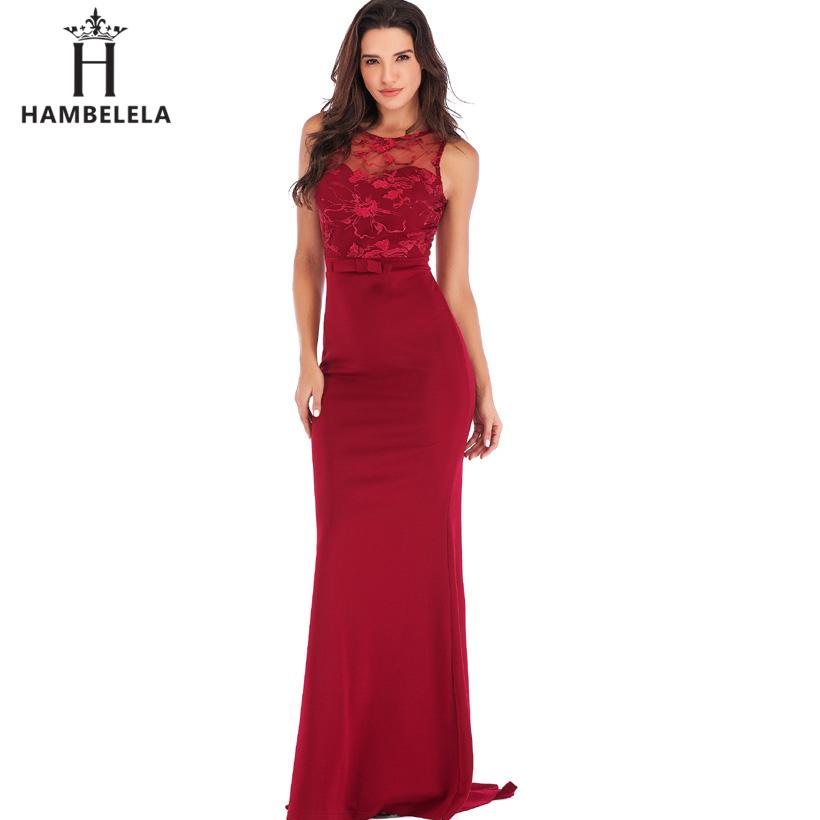 HAMBELELA Long Maxi Backless 2019 Women Dress Summer Evening Party Dresses Sexy O-Neck Elegant Floral Lace Dress Vestidos Longo (5)