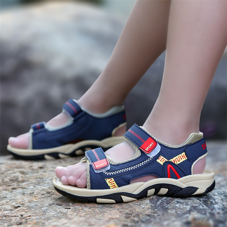 2020 Summer Boys Sandals Kid Sandals Children Shoes Cut-outs Rubber School Shoes Breathable Open Toe Casual Boy Sandal (17)