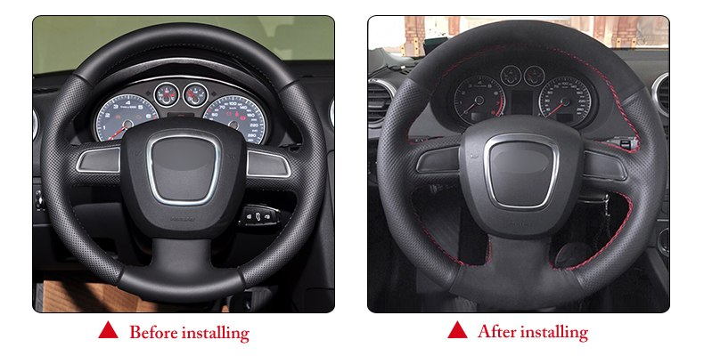 for Audi A3 steering wheel cover