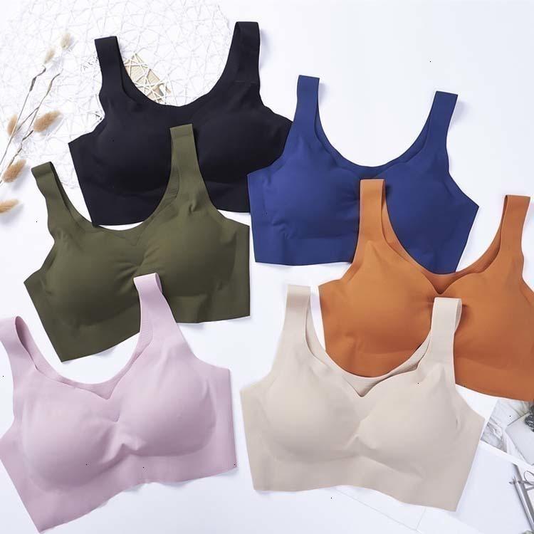 Sexy Women Bras Push Up Gather Bralette Seamless Bra Wire Free Soutien Gorge Femme Comfort Underwear Solid Color Vest Brassiere