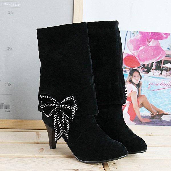 Sexy2019 Generation Hair Grace Rhinestone Bow Knight Coarse High With Boots S473