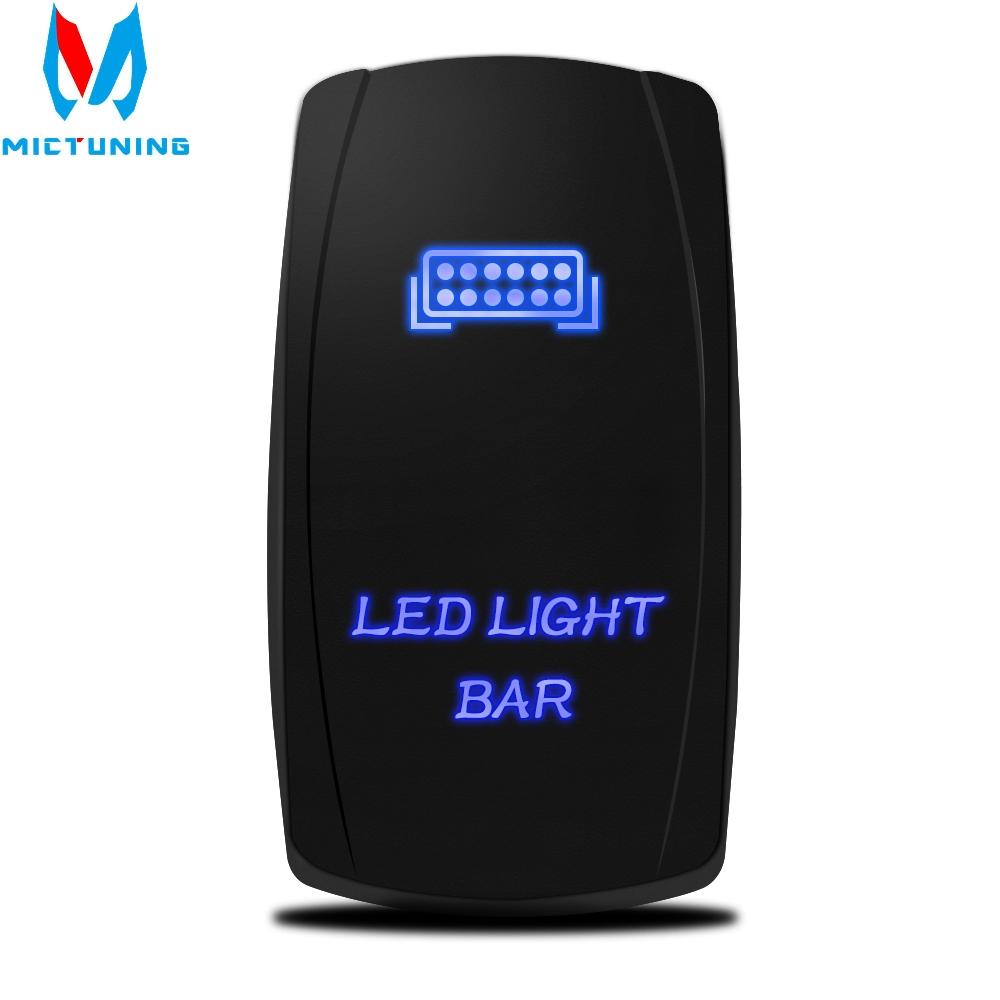 1Pc*12V 20A Car Bar ARB 5P Push Rocker Toggle Switch  Blue LED Light  Waterproof