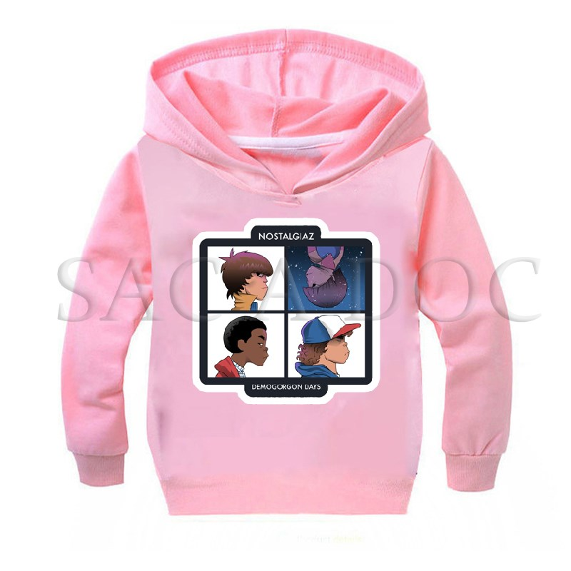 Stranger Things Chibi Eleven Hoodies Children Clothing Boys Girls Baby Casual Sweatshirt Autumn Winter Long Sleeve Hooded Gift