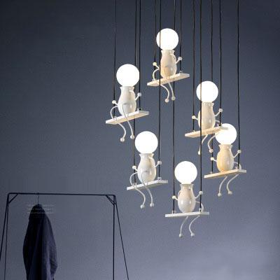 Lampes minimalistes cr/éatives nordiques post-modernes Bar Salon Lustre g/éom/étrique de salle /à manger