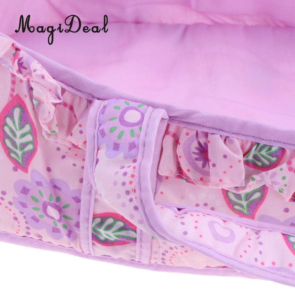 Floral Sleeping Bag Travel Carrier Purple For American Girl 18inch Doll Accessories Barbie Doll Furniture And Accessories Dolls Clothes And