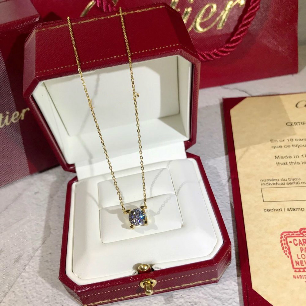 Brand LOVE Circle Necklace with diamond Pendant Rose Gold Silver Color for Women Vintage Collar Costume Jewelry box