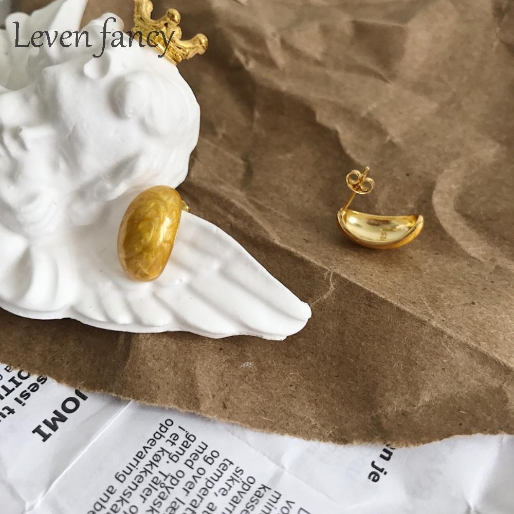 18K or jaune rempli Boucles D/'oreilles Femmes Arc-en-Tournesol Oreille Goujon Partie bohème