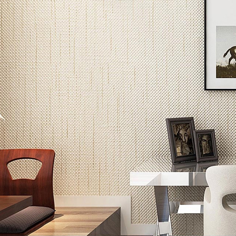 Non-woven Classical Grid Wallpaper Bedroom Living Room TV Wall Background Decor