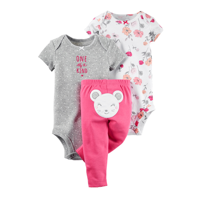 2018 baby boy girl bebes kids clothes suits 3 pcs sets The mouse roupas de clothes pijama cueca infantil pijama minions