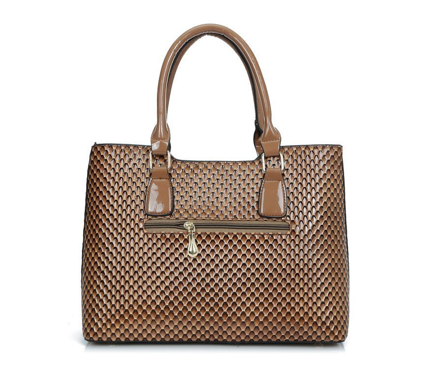 New Snake Skin Patent Leather Set Composite Girls Handbag High Quality Women Female Messenger Bags And Wallet Clutch Tote