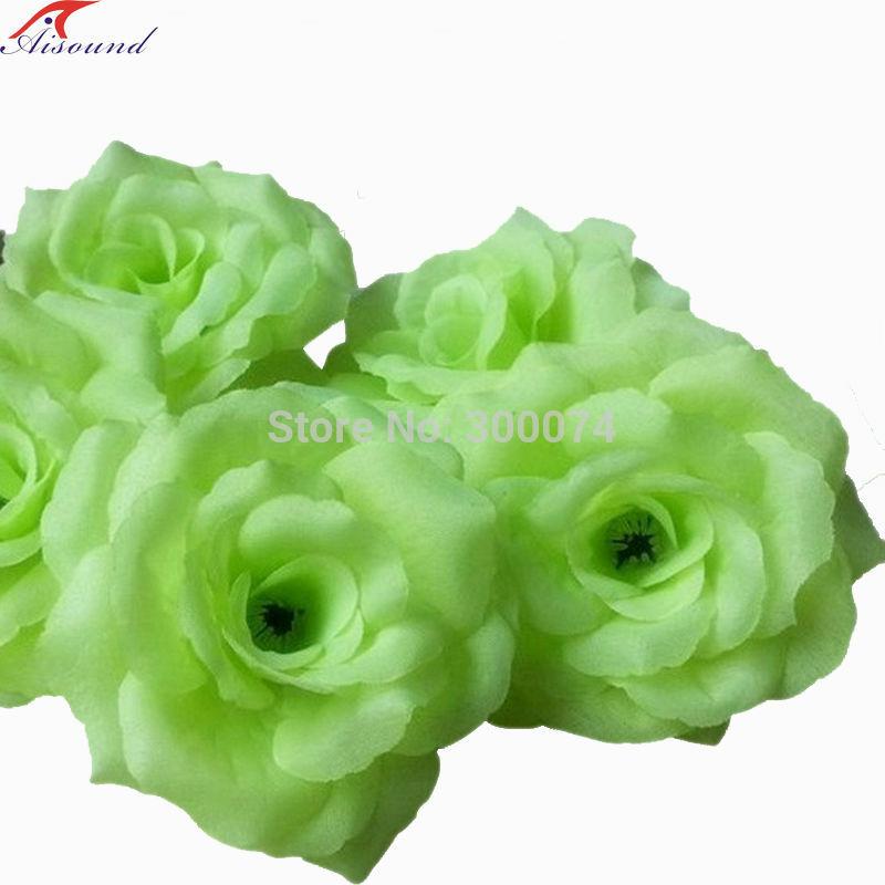 Green rose flowers