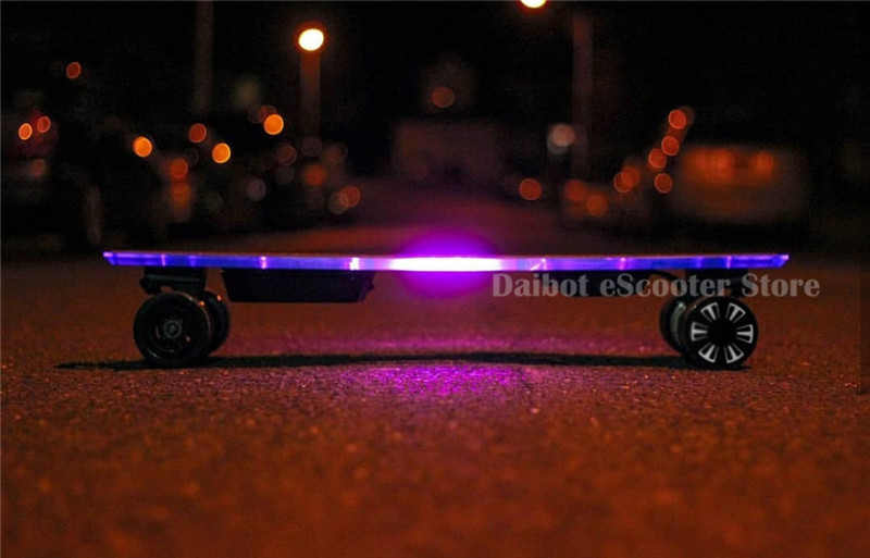 Daibot Electric Longboard Skateboard 4 Wheel Electric Scooters 300W2 36V Adult Powerful Electric Scooter With Colorful Lights (2)