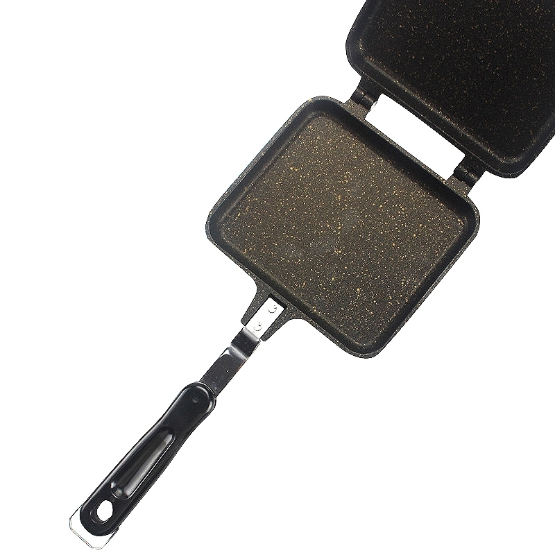 Sandwich Mold 34.5*15cm Side Grill Cookware Double Face Steak Fry Pan Pancake Outdoor Kitchen Supplies C19041301