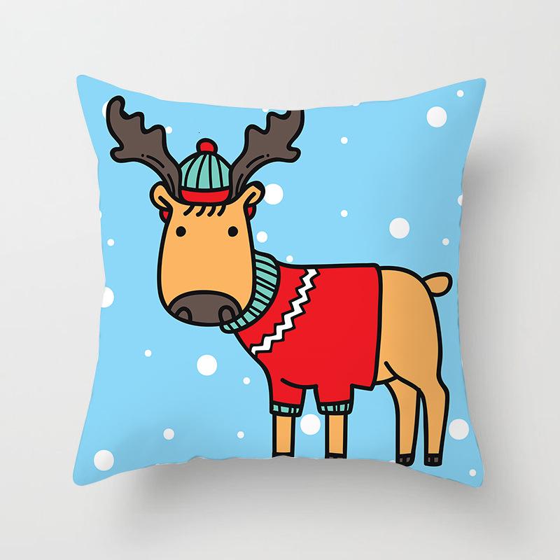 1Pcs 4545 Cm Happy New Year Christmas Decorations for Home Cartoon Santa Claus Xmas Decorative Pillows Cover adornos navidad (11)