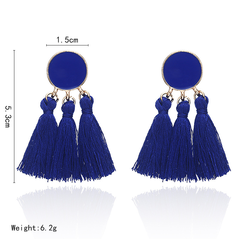 Costume Fashion Earrings Studs Ballet Danser Blue Marine Enamel Vintage Style B1