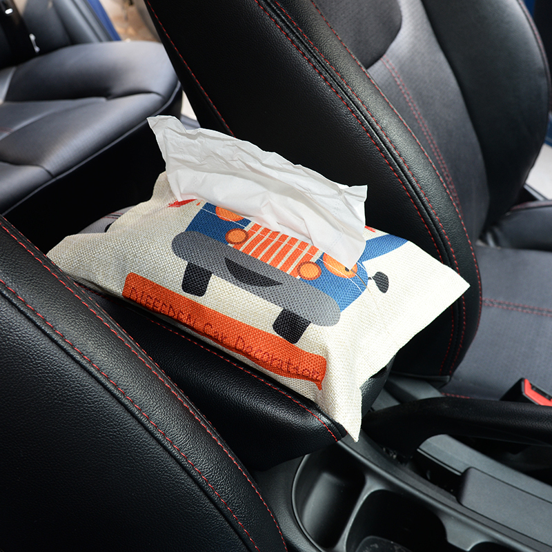 Cartoon Cloth Car Seat Back Hanging Storage Table Home Tissue Container Towel Napkin Papers Bag Holder Box Case Pouch C19042101