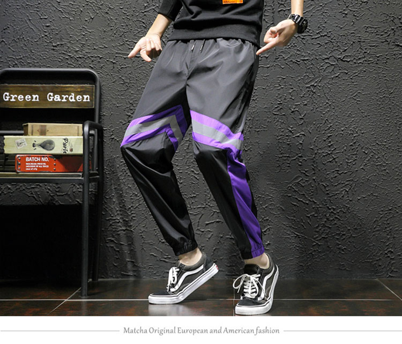 Loose Hip Hop Cargo Pants Men Camouflage Patchwork Harem Mens Trousers Streetwear (15)