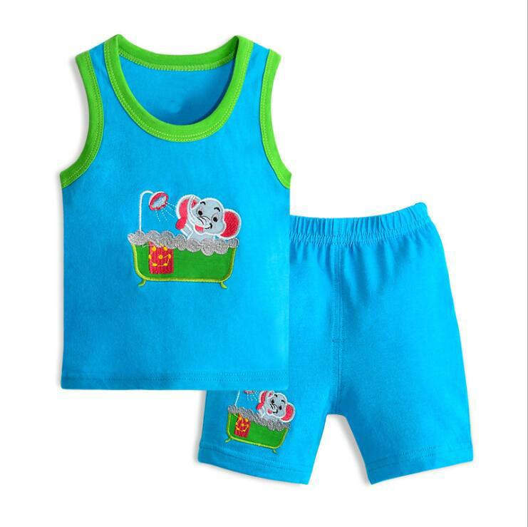 Toddler boy Shirt Set Children's Clothing Set Child Vest+Shorts set Baby Boy Summer Clothes 0-3 Year boy girl tracksuits costume