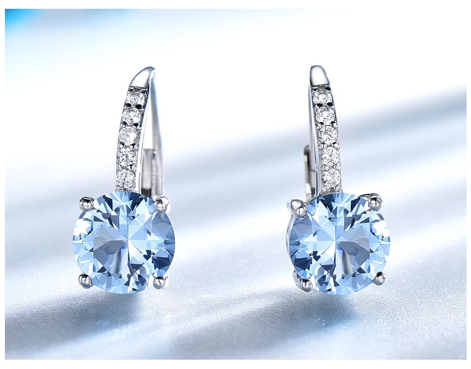 UMCHO Nano Sky Blue Topaz 925 sterling silver clip earrings for women EUJ061B-1-pc (5)
