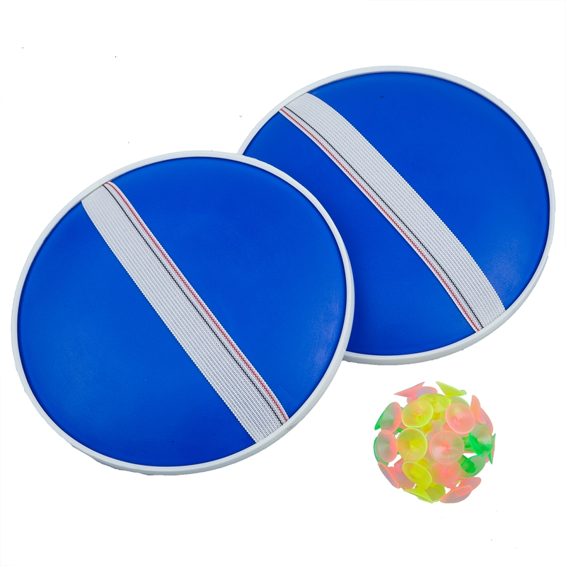 Outdoor Activity Game Funny Sticky Ball Game with 32 Suction Cup 2 Round Bat   M