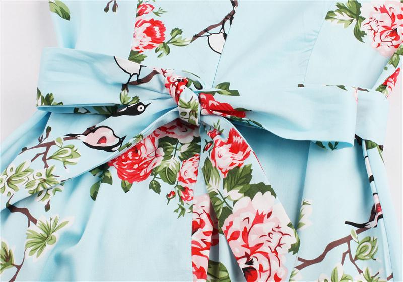 Kostlish 9 Style Print Summer Dress Women 2017 Sleeveless Swing 1950s Hepburn Vintage Tunic Dress Elegant Party Dresses Sundress (86)