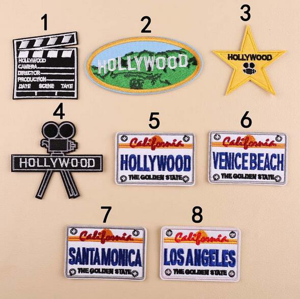 Iron on Hollywood California Patch Los Angeles Star